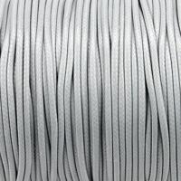 Vaxat polyestersnöre, ljusgrå, 1,5mm