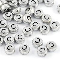 Bokstavspärlor silver *C*