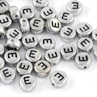 Bokstavspärlor silver *E*