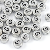 Bokstavspärlor silver *G*