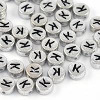 Bokstavspärlor silver *K*