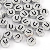 Bokstavspärlor silver *U*