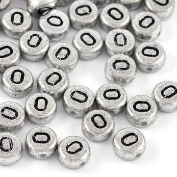 Bokstavspärlor silver *O*