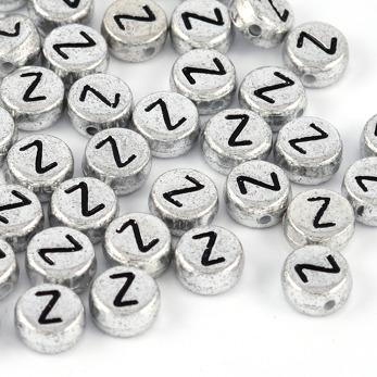 Bokstavspärlor silver *Z*