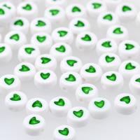 Hjärtan vit-grön