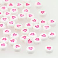 Hjärtan vit-rosa
