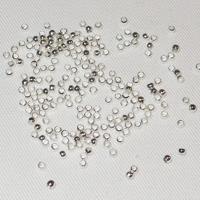 Klämpärlor silver, 2mm