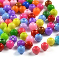 Akrylpärlor färgmix, 6mm