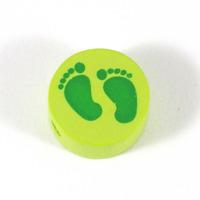 Motivpärla babyfötter, lime – utförsäljning