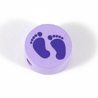 Motivpärla babyfötter, lavendel