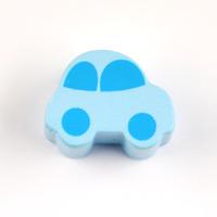 Motivpärla bil, ljusblå