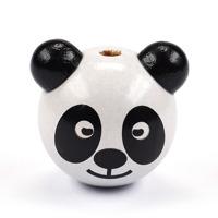 Motivpärla 3D-panda, vit