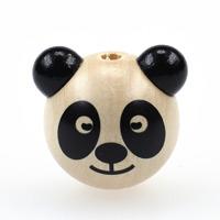 Motivpärla 3D-panda, naturlig