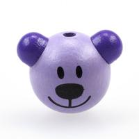 Motivpärla 3D-nalle, lavendel – utförsäljning