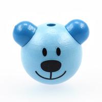 Motivpärla 3D-nalle, ljusblå
