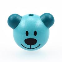 Motivpärla 3D-nalle, turkos – utförsäljning