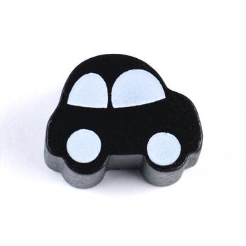 Motivpärla bil, svart