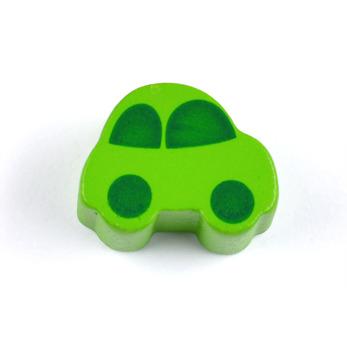 Motivpärla bil, ljusgrön