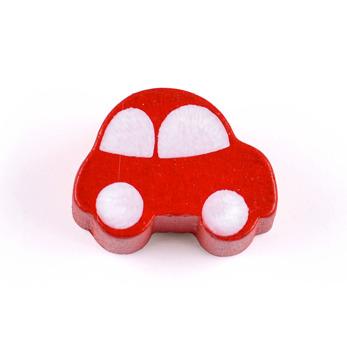Motivpärla bil, röd