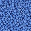 6/0 Seed beads, opaque kornblå, 4mm