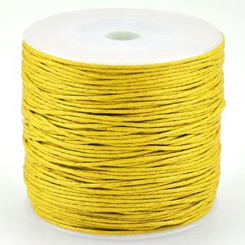 Vaxat bomullssnöre, gul, 1mm