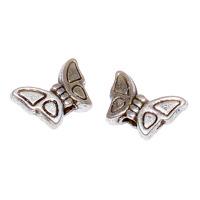 Fjärilar i metall, antiksilver, 8mm