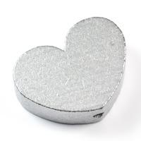 Motivpärla stort hjärta, silver