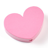 Motivpärla stort hjärta, rosa