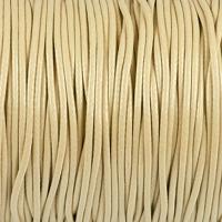 Vaxat polyestersnöre, naturlig, 1,5mm