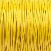 Vaxat polyestersnöre, gul, 1,5mm