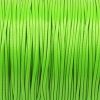 Vaxat polyestersnöre, knallgrön, 1,5mm