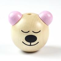 Motivpärla 3D-sovnalle, naturlig-ljusrosa