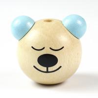 Motivpärla 3D-sovnalle, naturlig-ljusblå