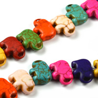 Elefanter i imiterad turkos, färgmix