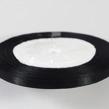 Satinband svart, hel rulle, 6mm