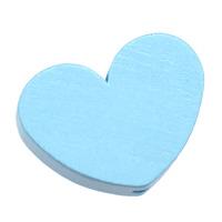 Motivpärla stort hjärta, ljusblå