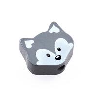 Motivpärla liten räv, grå