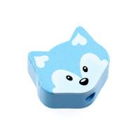 Motivpärla liten räv, ljusblå