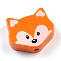 Motivpärla mellan räv, orange