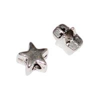 Små metallstjärnor, antiksilver, 5mm