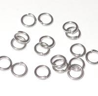 Enkla motringar, silver, 8mm