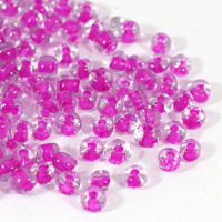 6/0 Seed beads, color inside fuchsia, 4mm