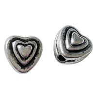 Metallhjärtan, antiksilver, 6mm – utförsäljning