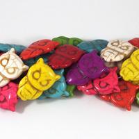 Ugglor i imiterad turkos, färgmix – utförsäljning