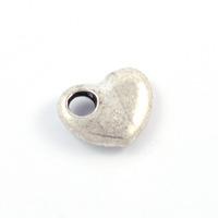 Berlock, hjärta, antiksilver, 14x11mm