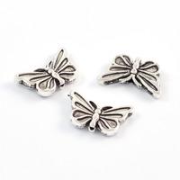 Fjärilar i metall, antiksilver, 17x10mm
