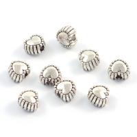 Små metallhjärtan, antiksilver, 5mm