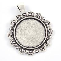 Ramberlock med ornament, antiksilver, 25mm
