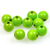 Träpärlor ljusgrön, 12mm
