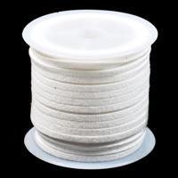 Konstmockasnöre, vit, 3x1,5mm – utförsäljning